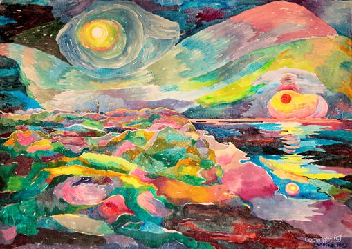 Bettina Heinen-Ayech (1937-2020): Sonnenzyklus auf Sylt, 1956