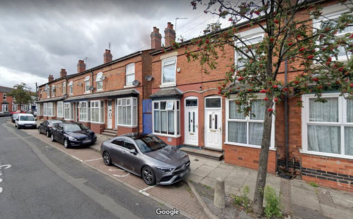 Gough Road - a typical Greet Street of terraced houses - image from Google Streetview