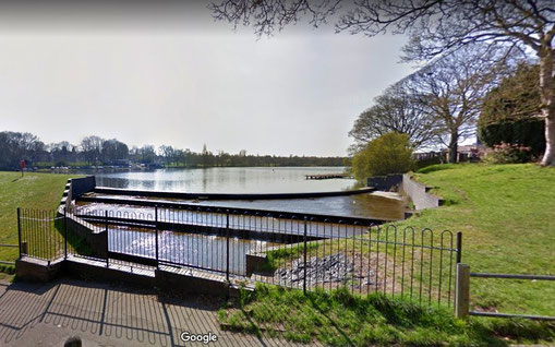 Waterfall near Boldmere Gate - image from Google Maps Streetview