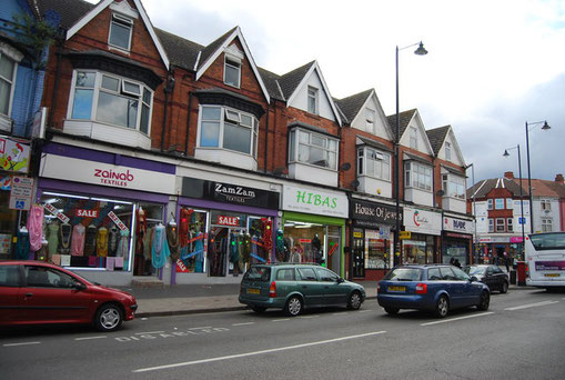 Shops on the Stratford Road 2011 - image by N Chadwick on Geograph SP0983 reusable under Creative Commons licence Attribution-ShareAlike 2.0 Generic (CC BY-SA 2.0)