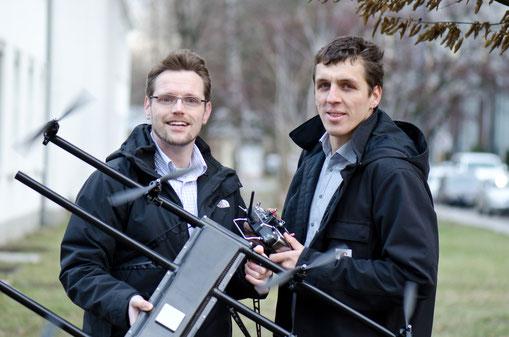 Zivile Drohne mit LSK CFK-Schalen kurz vor dem EInsatz