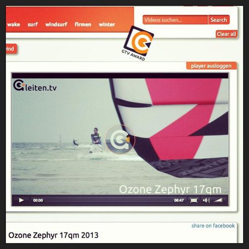 Ozone Zephyr 2013 im Test bei Gleiten.tv