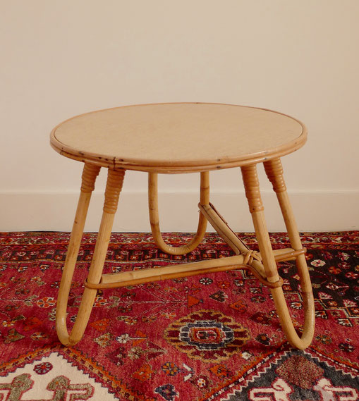 JOLI, table rotin enfant, table basse tripode