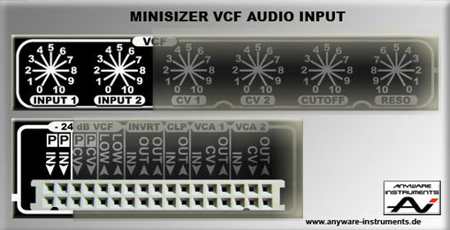 MINISIZER - VCF Section - Signal Input´s