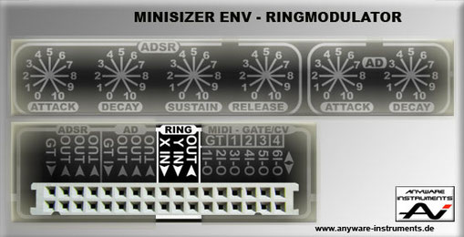 MINISIZER - ENV Section - Ringmodulator Module