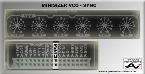 MINISIZER - VCO Section - Hard Sync