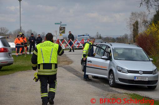 Feuerwehr, Blaulicht, Verkehrsunfall, St. Roman, BFKDO Schärding