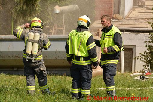 Feuerwehr, Blaulicht, Glimmbrand, Engerwitzdorf, Urfahr