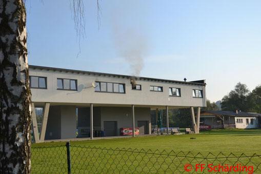 Feuerwehr; Blaulicht; FF Schärding; Brand; Clubheim; Küchenbereich;