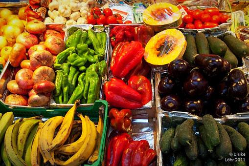 Gemüse auf dem Markt in Bilbao