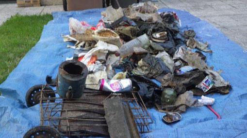 Un ramassage de détritus effectué par l'association des pêcheurs de Condé-en-Brie.