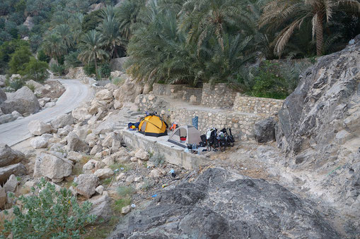 Camping out in Oman on a bike trip