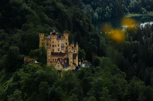 Hohenschwangau Castle close to Neuschwanstein Castle, roadtrip Bavaria, Germany