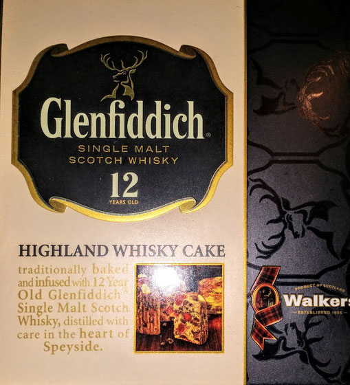 Glenfiddich whisky cake purchases in London