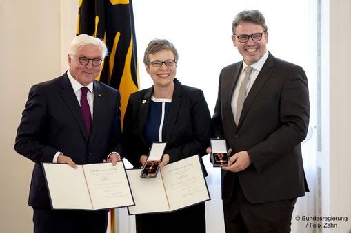 Wir machen Lust auf Demokratie Monika und Gregor Dehmel Bundespräsident Frank-Walter Steinmeier