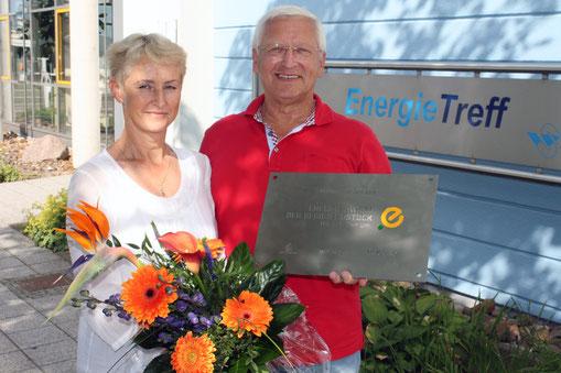 1. Energie-Award in Rostock belegte Familie Duschek auch mit Unterstüzung der Firma MAWO Elektro e.K. durch das Senec Speichersystem