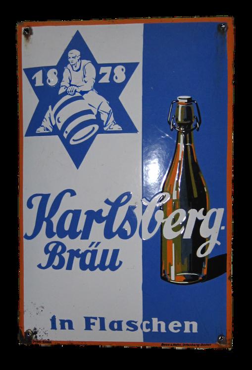 Kalrsberg Brauerei Emailschild Homburg Saar