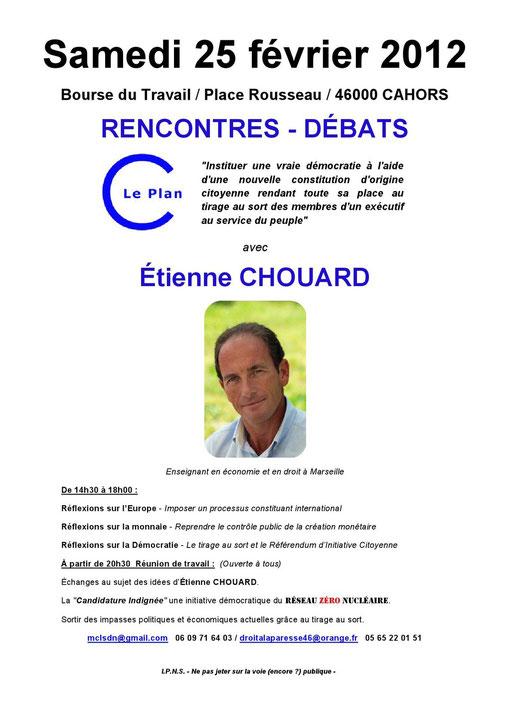 Etienne Chouard à Cahors