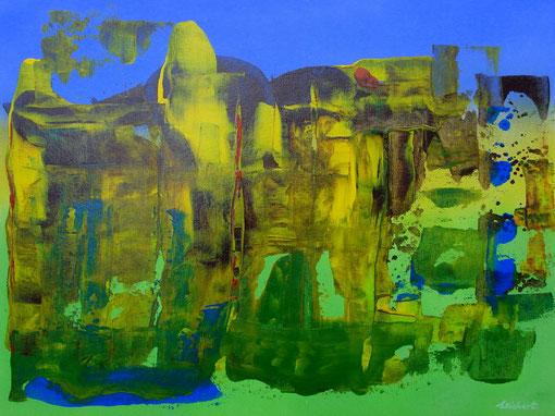 """""""Landschaft"""", Acryl auf Karton, 30x40, 2011  Nr.:11003"""
