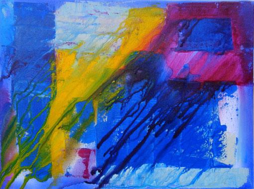 """""""Regenfenster3"""", Acryl auf Lwd., 30x40, 2011  Nr.:11136"""