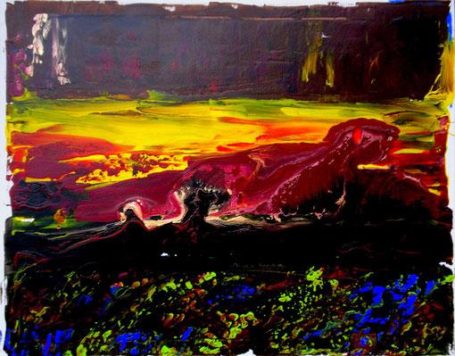 """""""Am Vulkan"""", Acryl auf Lwd., 40x50, 2011  Nr.:11127"""
