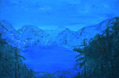 """""""Königssee"""", Acryl auf Lwd., 40x60, 2010"""