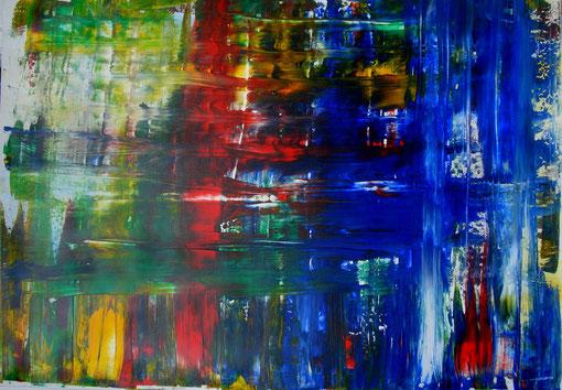 """""""Lichtung"""", Acryl auf Lwd., 70x100, 2012  Nr.:12053"""