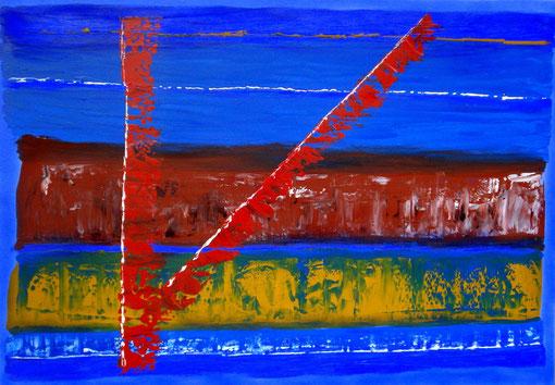 o.T., Acryl auf Lwd., 70x100, 2011 Nr.:11128