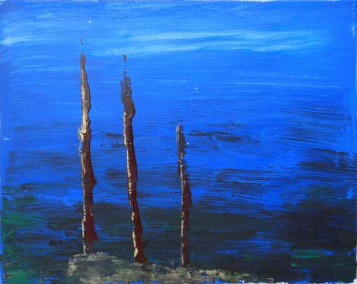 """""""Kleine Insel"""", Acryl auf Lwd., 40x50, 2011  Nr.:11116"""