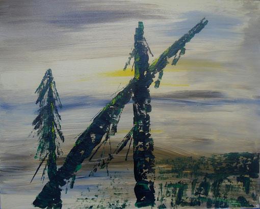 """""""Gipfel"""", Acryl auf Lwd., 40x50, 2012 Nr.:12045"""