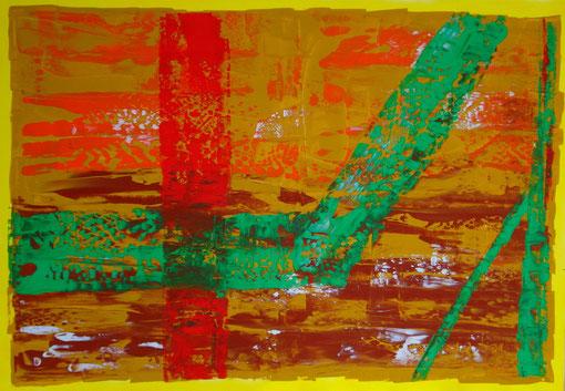 o.T., Acryl auf Lwd., 70x100, 2011  Nr.:11129