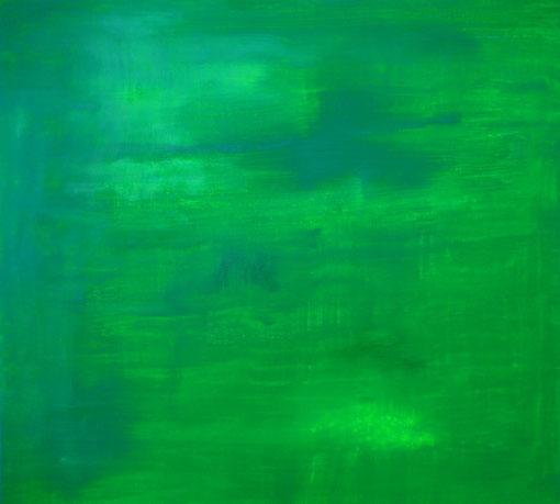 """""""Grün am Berg"""", Acryl auf Lwd., 60x60, 2010  Nr.:106"""