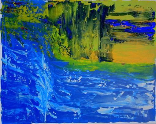 """""""Stromschnelle"""", Acryl auf Lwd., 40x50, 2011  Nr.:11122"""