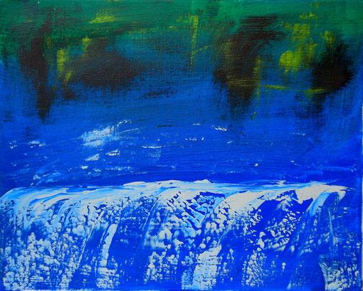 """""""Wasserfall"""", Acryl auf Lwd., 40x50, 2011 Nr.:11121"""