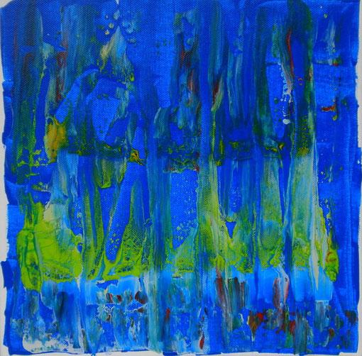 """""""Hinter dem Regen"""", Acryl auf Lwd., 30x30, 2011  Nr.:11109"""