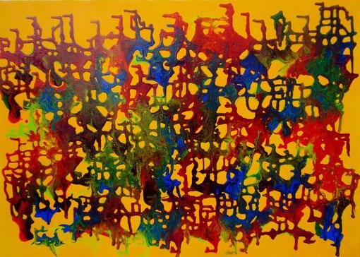 """""""Dripping"""", Acryl auf Lwd., 50x70, 2011"""
