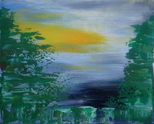 """""""Waldrand"""", Acryl auf Lwd., 40x50, 2012  Nr.:12036"""