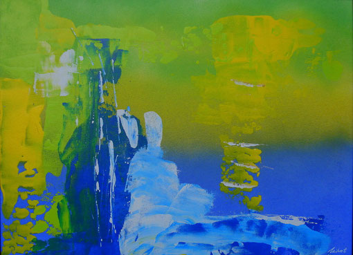 """Am Wasser"", Acryl auf Karton, 30x40, 2011  Nr.:11001"