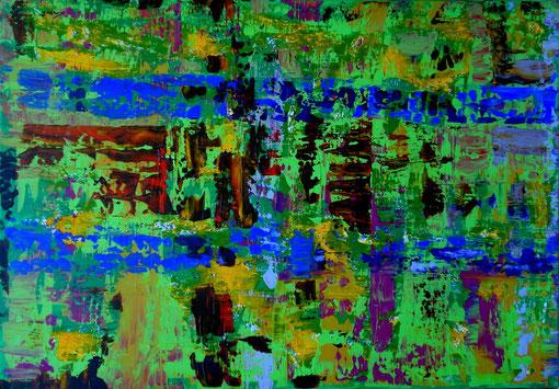 o.T., Acryl auf Lwd., 70x100, 2012  Nr.:12102