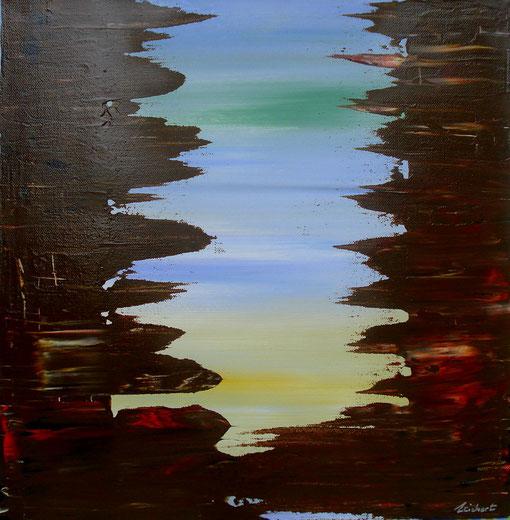 o.T., Acryl auf Lwd., 40x40, 2012,  Nr.:12058