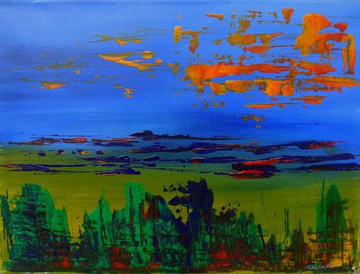 """""""Landschaft"""", Acryl auf Lwd., 30x40, 2012  Nr.:12050"""