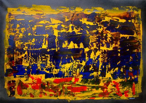 o.T., Acryl auf Lwd.,50x70, 2012  Nr.:12052