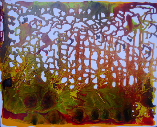"""""""Lianenwald"""", Acryl auf Lwd., 40x50, 2012  Nr.:12044"""