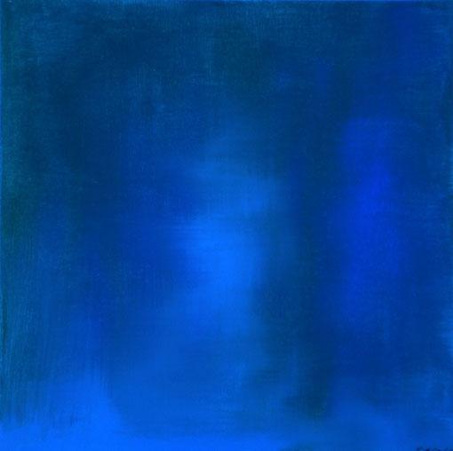 """""""Blau am Berg"""", Acryl auf Lwd., 50x50, 2010  Nr.:105"""
