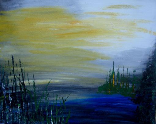 """""""Kleiner Teich"""", Acryl auf Lwd., 40x50, 2012  Nr.:12042"""