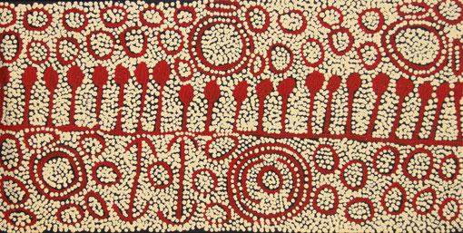 イナルパ・ナンガラ「女性の儀礼」40x70cm