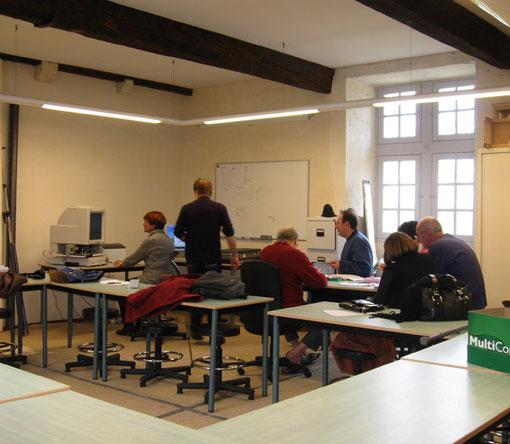Recherches passionnées à l'atelier généalogie... Arthous 07/03/2009