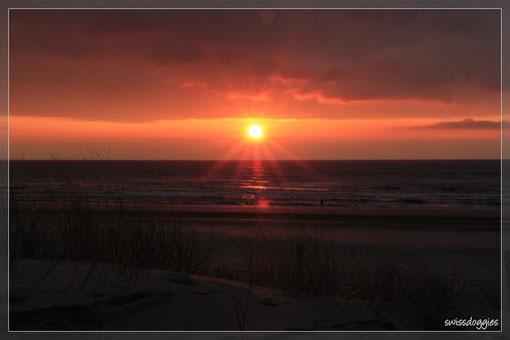 wunderschöner Sonnenuntergang - beeindruckend für uns Bergler