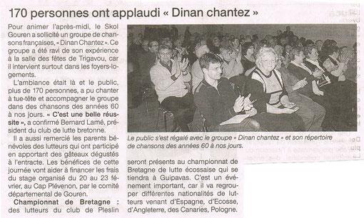 Ouest France - 18/19 février 2012   (Au premier plan: Vincent)