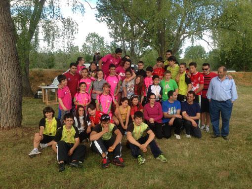 Foto de todos los palistas que participaron en la copa promoción de Zamora